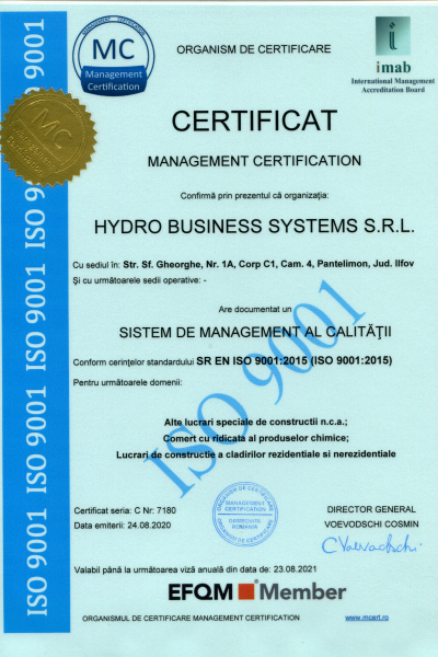 HYDRO BUSINESS SYSTEMS 9001